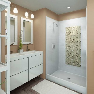 barrier free shower for easy accessibility