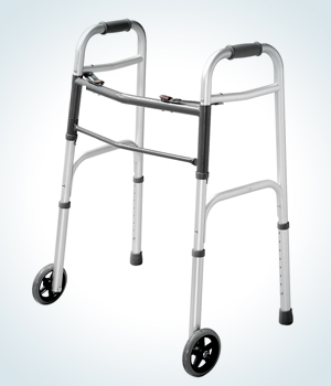 lightweight, folding walker for 4-point support