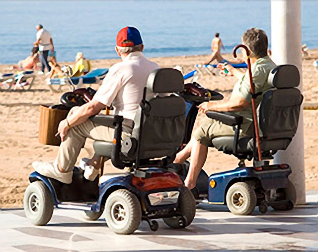 power scooters when trouble walking unaided